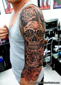 25 sugar skull tattoo designs - Skullspiration.com - skull designs, art, fashion and more:
