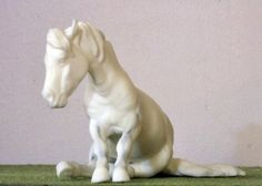 "Adorable Resin Sitting Pony Sculpture ""Tot"" by Jen Kroll"