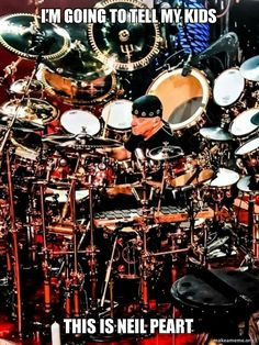 Tuesday's Memes – Neil Peart - - Since Neil has recently passed, he deserves to be honored with his own Meme collection. This is not a Rush a collection…it is ALL NEIL! Rest in Peace sir! You greatness will be remembered…. Heavy Metal, Rush Music, Rush Band, Drummer Gifts, Neil Peart, Drum Solo, Progressive Rock, Vintage Rock, Drummers