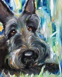 Beautiful Scottish Terrier Art