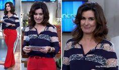 Look da Fátima Bernardes no Encontro dia 21 de abril