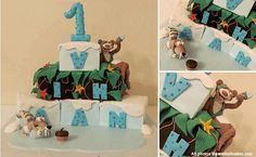 "Movie Cake - Inspired by ""Ice Age 3: Dawn of the Dinosaurs"" - made by Sweet Talk Custom Cakes & Confections"