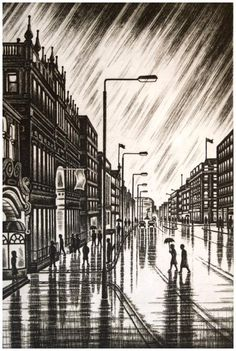 For Arts Sake - Piccadilly Rain by John Duffin