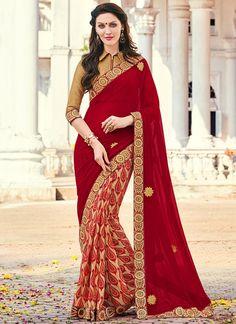 Sophisticated Georgette Multi Colour Printed Saree
