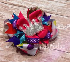 Princess Boutique Style Hair Bow by CindabellasBoutique on Etsy