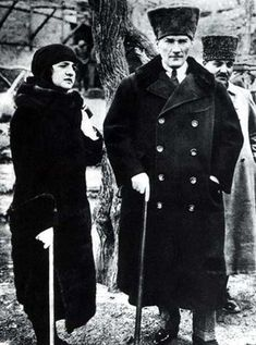 Mustafa Kemal Atatürk and his wife Latife Uşakizâde during a trip in 1923. Ataturk made his name in 1915 by rushing reinforcements to the Gallipoli beach-head and holding the ANZAC assault.
