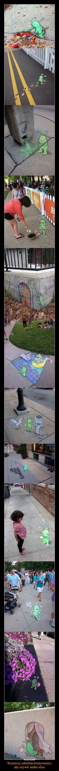 Wystarczy odrobina kreatywności, aby ożywić nudne ulice