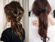 messy pony tails that looks really cute