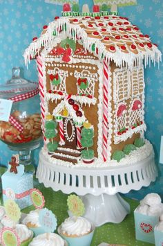 Christmas Gingerbread house - necco wafers as roof! Description from pinterest.com. I searched for this on bing.com/images