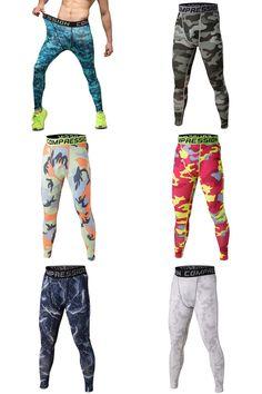 [Visit to Buy] Mens COMPRESSION Base Layer Long Pants Fitness Sportwear Leggings Bottom #Advertisement
