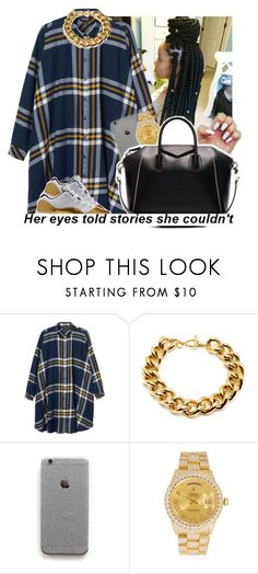 """She a Baddie😌✨💦"" by slayed-fashion ❤ liked on Polyvore featuring Monki, Ben-Amun, Rolex and Givenchy"