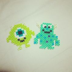 Mike and Sulley - Monsters Inc perler beads by nnyung89
