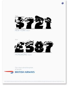 British Ariways B/W Font by Alex Trochut, via Behance