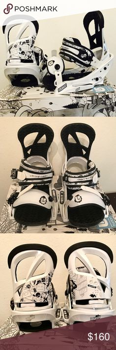 Burton Scribe Snowboard Bindings Sz L Womens 8+ BRAND SPANKIN' NEW snowboard bindings from BURTON, the snowboarding brand pros rely on.   Super stylish and unique...will definitely turn heads as you are zooming down the slopes. I wish I could keep them, but I accidentally misread the box and thought they were a size 5 when I purchased them, but they are actually Size L for Women's US 8+. (See pic of box and you'll understand.)   I purchased these top-quality bindings for $219.95 + tax. My…