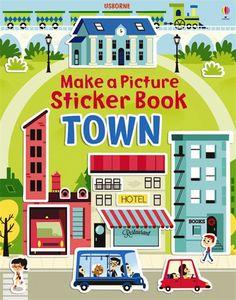 Usborne Books & More. Build A Picture Town Sticker Book Preschool Curriculum, Preschool Art, Kindergarten, Book Restaurant, Owl Kids, Early Reading, Book People, Thing 1, Make Pictures