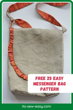 Looking for some great messenger bag patterns to work on? You're in the right place. You can start on these free 25 easy messenger bag patterns now! In just a couple of evenings, you can make these impressive bags. All you have to do is give the pattern a try. It's also a great project for experienced sewers looking to take a break from technical projects. Once complete. the bag looks like a masterpiece. #messengerbagpatterns#freepatterns#freesewingpatterns#sewingforhome#sewingbagpatterns Messenger Bag Patterns, Purse Patterns, School Parties, Creative Outlet, Kids Bags, Gifts For Friends, Satchel, Couple, Purses