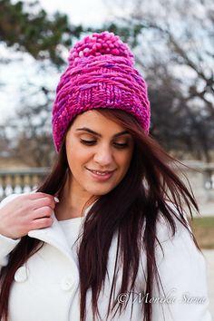 "Pogonip Hat by Monika Sirna. malabrigo RASTA in Baya Electrica colorway. ""Color of the Year"""