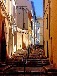 Located just above the Vieux Port, is the old quarter of Marseilles, Le Panier Provence, Monuments, Places Around The World, Around The Worlds, Ville France, Southern France, French Riviera, Travel Goals, France Travel