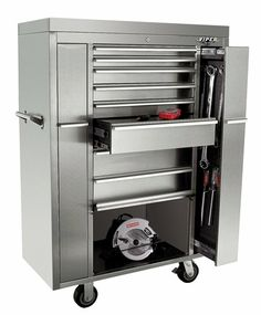 Viper Tool Storage V4108UBSS 41-Inch 8-Drawer 18G Stainless Steel Rolling-Inch Ultimate Box-Inch Tool Cabinet - Amazon.com 58+ inches tall