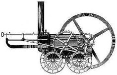 Mechanical reaper. Invented by Cyrus McCormick in 1831. It