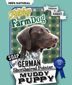 German Shorthaired Pointer Muddy Puppy Dog Soap