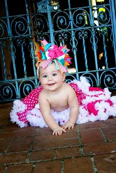 Only one word. W H Y ?     Baby is soo beautiful but all anyone will focus on is the HIDEOUS bow.
