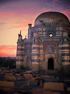 Tomb of Bibi Jaiwindi, Uch, Pakistan. Dating to the 15th century, the shrine was built in 1493 by an Iranian prince, Dilshad, for Bibi Jawindi, who was the great-granddaughter of Jahaniyan Jahangasht, a famous Sufi saint. (V)