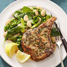 Skillet Pork Chops with Vegetables