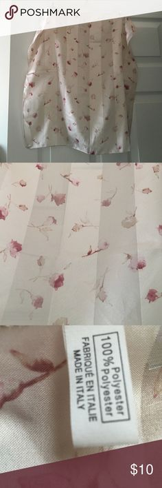 Made in Italy scarf 100% polyester Beautiful flower scarf nude creamy colors. Great condition. Please see photos and ask questions before purchasing. You are welcome to make offers. Have fun shopping. Accessories Scarves & Wraps