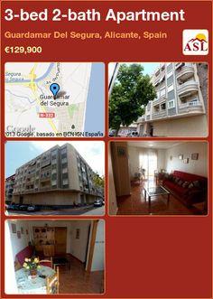 3-bed 2-bath Apartment in Guardamar Del Segura, Alicante, Spain ►€129,900 #PropertyForSaleInSpain