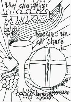Holy Communion Reflective Colouring Sheet
