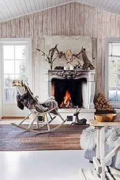 Lekker warm bij de openhaard ,, dat vind ik iets wat echt bij de winter hoort !