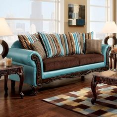 LOVE the colors! Too bad we already have a new couch but great color idea for our bedroom.