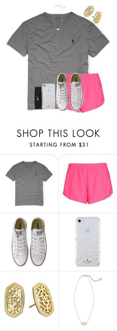 """""""{ ootd }"""" by mmadss ❤ liked on Polyvore featuring Ralph Lauren, NIKE, Converse, Kate Spade and Kendra Scott"""