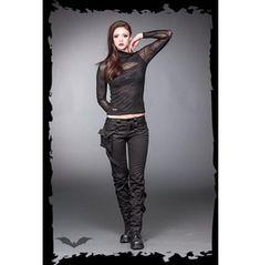 Ladies Goth Bondage Pants Black Industrial Trousers $9 Worldwide Shipping