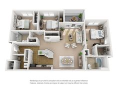 Floor Plans – Cottage Trails at Culpepper Landing Apartments in Chesapeake, VA Spacious Apartments Sims House Plans, Small House Plans, House Floor Plans, Home Room Design, Home Design Plans, House Design, Apartment Floor Plans, Bedroom Floor Plans, Small Apartment Layout