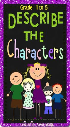 Describing Characters Graphic Organizers are fun, flexible and interactive story elements organizers to introduce and review characterisation technique to the kids. These are aligned with the common core standards and I have included suggestions good for 3 lessons to incorporate these engaging organizers. Use these differentiated and versatile reading response organizers with as many literature books as you want throughout the year.