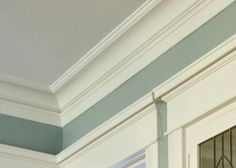 Cove moulding-- adds a touch of Craftsman to a boring room...