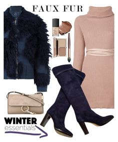 """""""Faux Fur Coats"""" by boky-d ❤ liked on Polyvore featuring 3.1 Phillip Lim, Valentino, Loro Piana, Chloé, NARS Cosmetics, winterstyle and fauxfurcoats"""