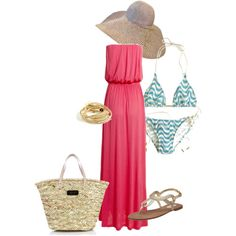 A fashion look from June 2011 featuring evening maxi dresses, g string bikini and beige handbags. Browse and shop related looks. Summer Fun, Spring Summer, Beach Attire, Beach Day, Cool Outfits, Girl Stuff, My Style, Pretty, Polyvore