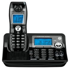 Ge Dect 6 0 Digital Black 2 Line Cordless Single Handset Phone With Answering System