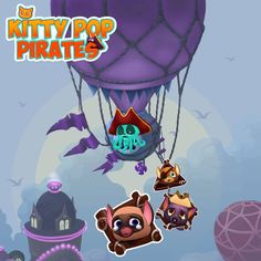 Save your cute kittens crew from nasty pirate Ink Beard!