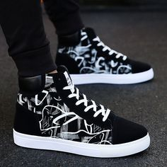 High Top Sneakers, Sneakers Mode, High Shoes, Casual Sneakers, Sneakers Fashion, Casual Shoes, Fashion Shoes, Platform Sneakers, Men Casual