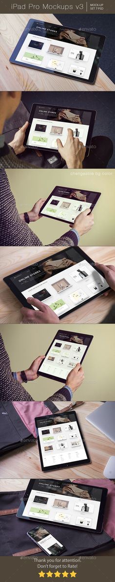 iPad Pro Mockups v3 Download here: https://graphicriver.net/item/ipad-pro-mockups-v3/19577794?ref=KlitVogli
