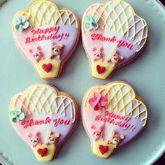 メッセージ気球アイシングクッキー