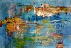 """my new painting """"Reflextion"""" #oil painting, #abstract painting, #pallete knife"""