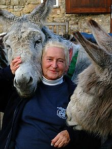 Elisabeth Svendsen - Telegraph ( 1930 - 2011) who founded the Donkey Sanctuary in Sidmouth, Devon, Great Britain