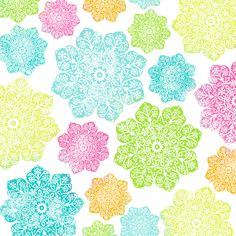 batik flower paper BRIGHT - 12 and a half inch SQ 350dpi mel stampz by melstampz, on Flickr