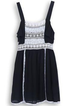 lace & chiffon dress <3