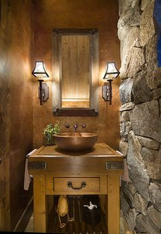 Pete Alverson-Lahontan - Rustic - Powder Room - Other Metro - THID
